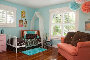 +turquoise +and +pink +girls +bedroom Kids Design Ideas, Pictures, Remodel and Decor