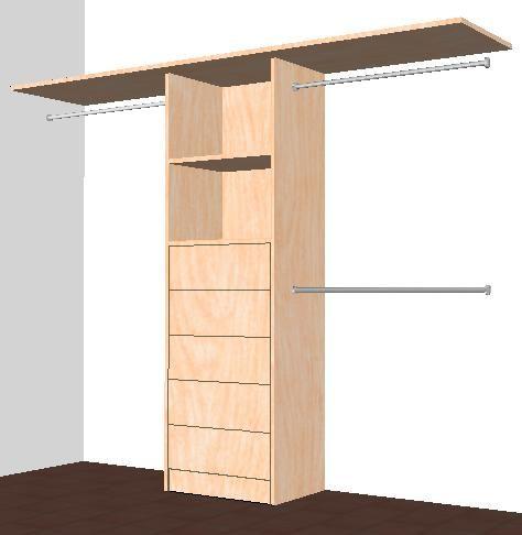 Closets de madera muy resistentes bonitos guadalupe for Disenos de closets sencillos