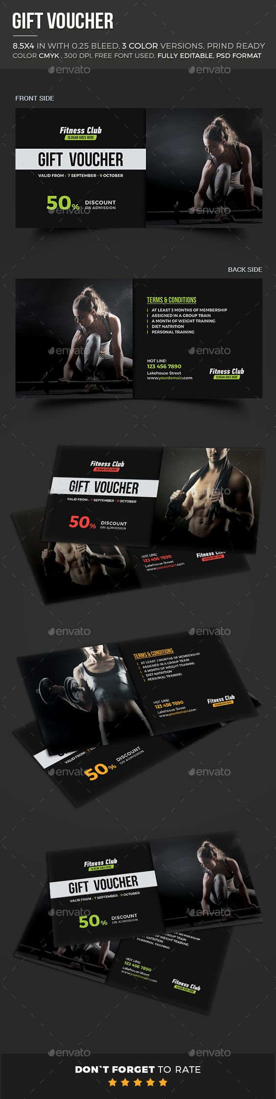 Fitness Gift Voucher – Fitness Gift Certificate Template