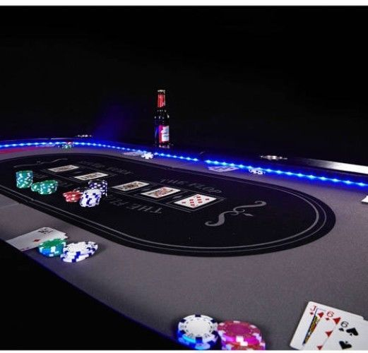 Professional Poker Table Folding 10 Player Premium Casino Style Led Lights Gift Espn Poker Table Poker Led Lights