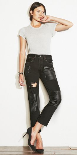 REFORMATION'S STONEY JEANS  http://thereformation.com/STONEY-JEANS-BLACK.html