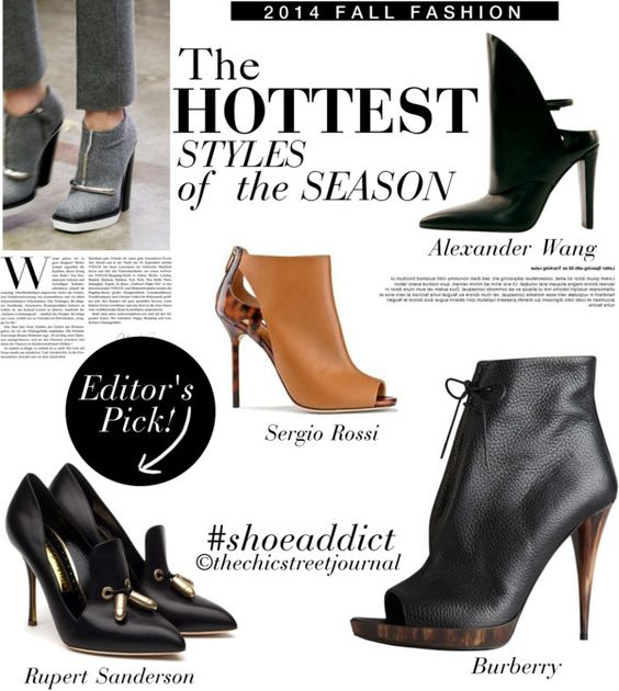 Shoe Obsessed: The hottest styles for fall 2014 | Read Full Article on http://wp.me/p4ccT1-11G  #fallshoes #booties #leatherboots #fallfashion #shoeaddict #2014fallfashion
