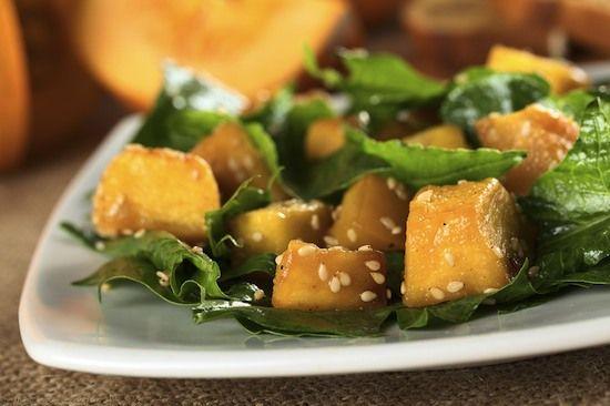 Pumpkin Spinach Salad