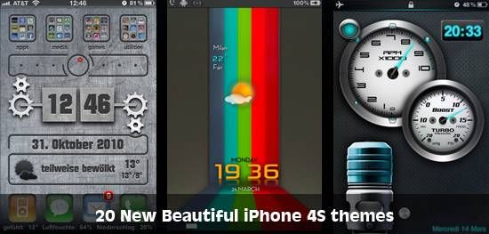 20 New Beautiful iPhone 4S themes