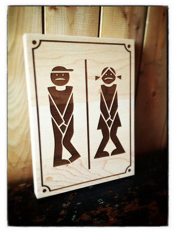 Muestra la puerta de ba o madera laser cartel para puerta de ba o de madera - Cartel bano ...