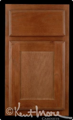 Kent Moore Cabinets Groveland Door. Displayed in red oak wood with autumn harvest finish