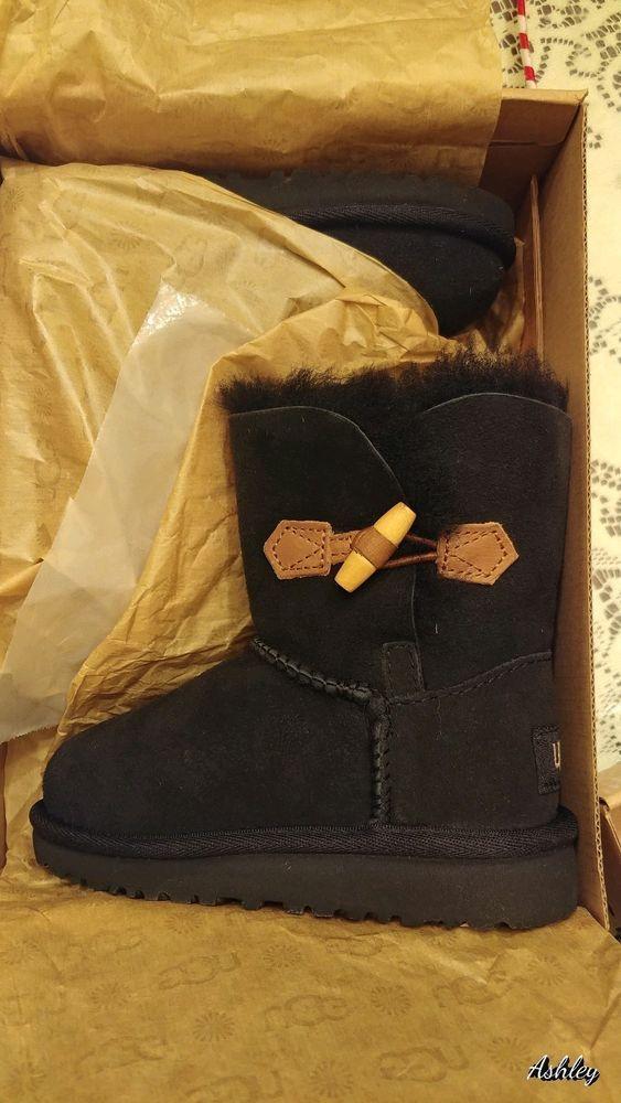 Ugg Toddler T Ebony 8 Black Suede Boots
