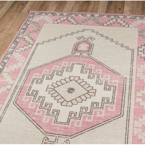 Moyer Oriental Pink Area Rug In 2020