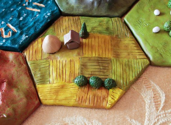 Die Siedler von Catan Polymer Clay Weizen-Korn-Felder von VanGamble