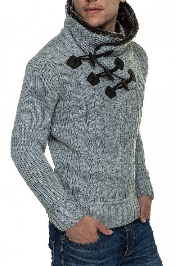 gruby sweter zimowy na drutach - Szukaj w Google: