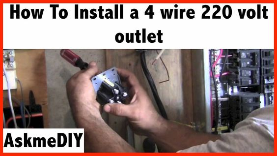 How To Install A 220 Volt 4 Wire Outlet Dryer Outlet Electric Dryers Wire