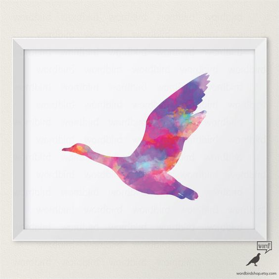 Bird Watercolor Art Print by WordBirdShop