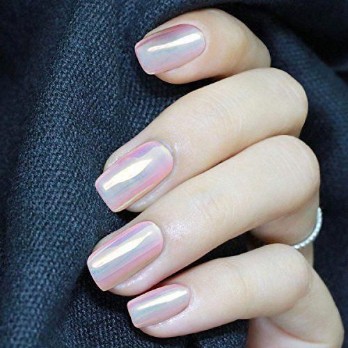 Aurora Mermaid nail pigment powder #vacationnailscolor