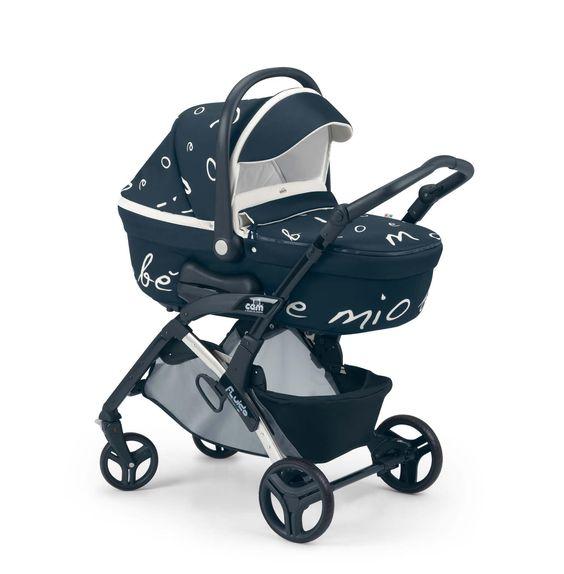 Cam Kinderwagen Fluido Amore Mio dark blue by CAMSPA Italy für Baby und Kind, Typo Style