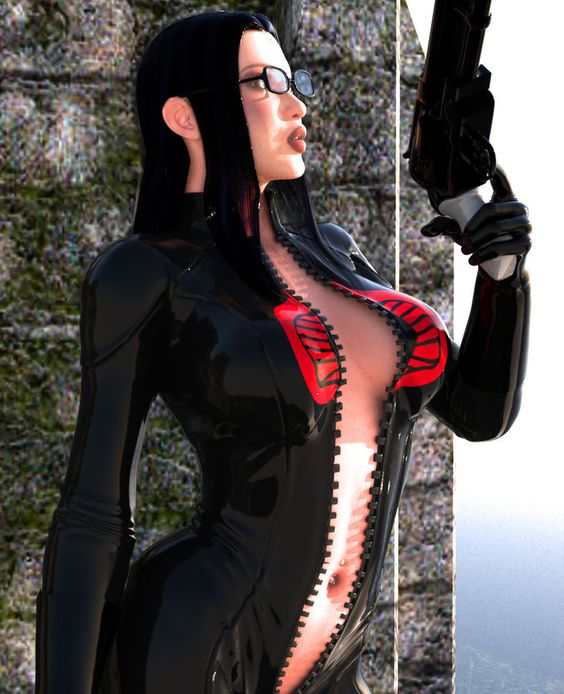 My second attempt at Baroness, using a new model and new suit I textured and designed for V4 J-Suit. This image was inspired by this awesome drawing