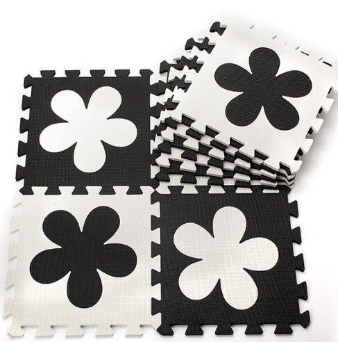 Check Price Baby Eva Foam Play Puzzle Mat Interlocking Floor Mat 30cmx30cmx1cm Child Mats Black White Flower 12x12 Hot Baby Eva Foam Play Puzzle