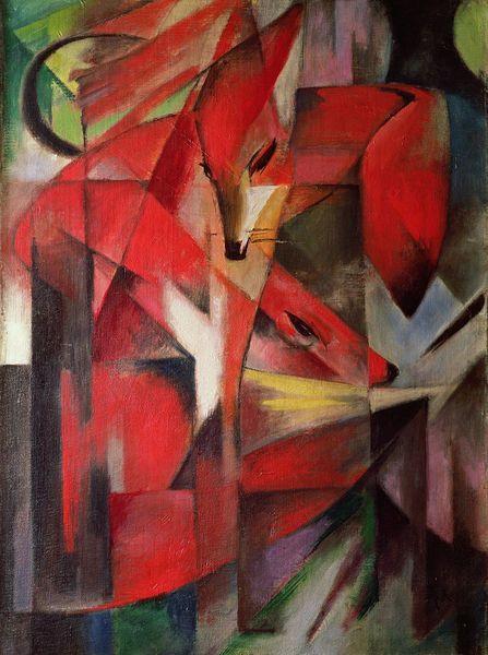 'The Fox' (1913) by Franz Marc