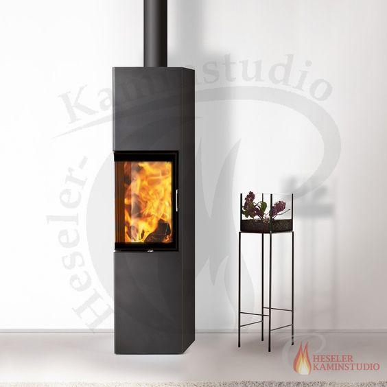 Kaminofen Austroflamm Slim 2.0 (Raumluftunabhängig mit DIBt) 005 Abstand zu brennbaren Bauteilen seitlich 15cm, hinten 30cm