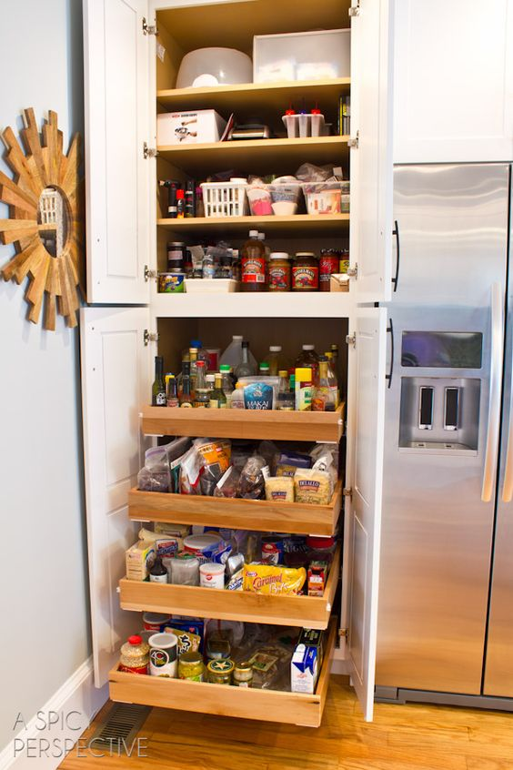 Sliding Shelves Perspective And Pull Out Pantry On Pinterest