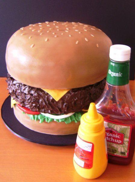 a big honkin' burger. vegan + sweet