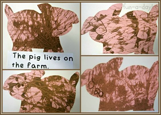 making books with kids, preschool farm theme