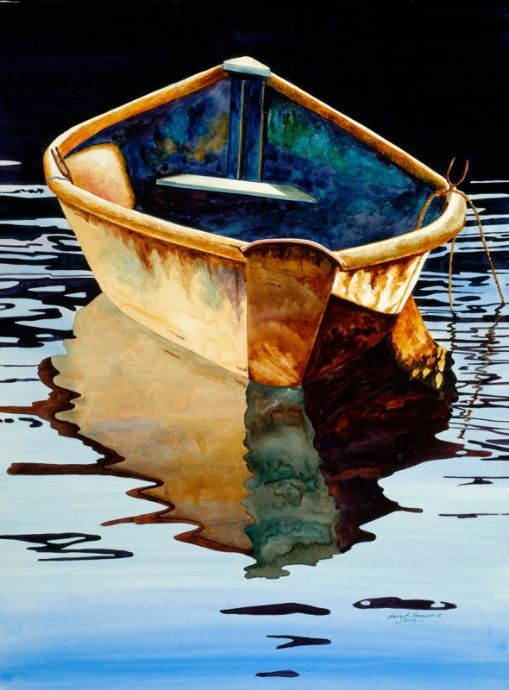 """Harry Thompson - Watercolor Harry Thompson is a watercolor artist based in Kennebunkport Maine where he owns and operates Northlight Gallery during the Spring, Summer and Fall. During his """"off""""..."""