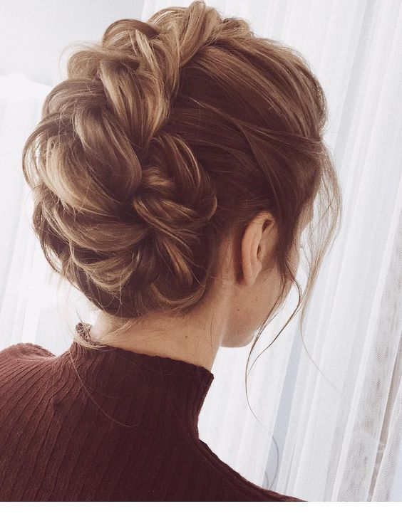 Cool Updo With Braids Elegant Braided Hairstyle Bun Hairstyles Hair Styles