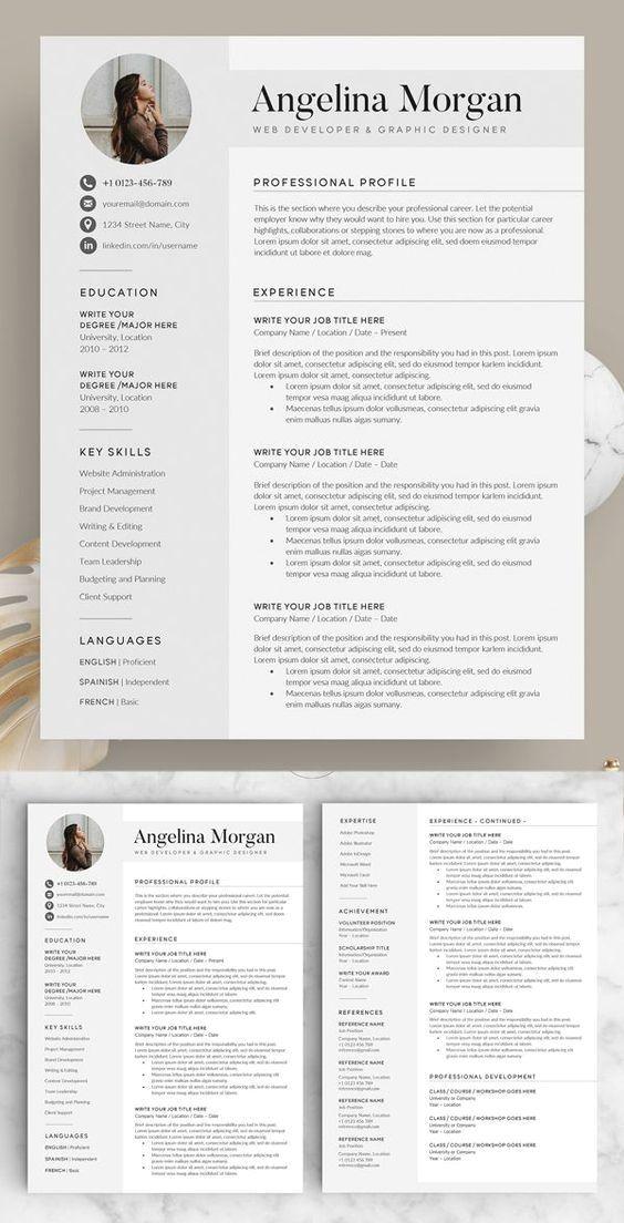 Free Modern Flat Resume Template Cv Template Free Modern Resume Template Free Best Resume Template