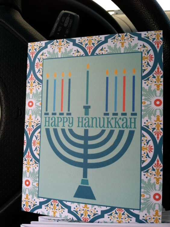 Hanukkah Greetings by CardsbyCaren on Etsy, $5.00