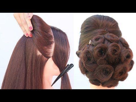 Hairstyles On Lehenga Hair Hair Styles Wedding Hairstyles Bridesmaid Party Hairstyles