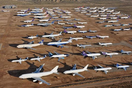Airplane Graveyard In Adelanto Ca Love Staring At The
