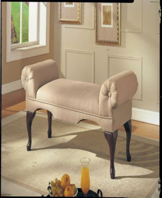 Aston Bench With Rolled Arm Tan Beige Chaise Lounge Bedroom