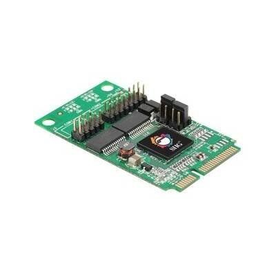 SIIG IO Card JJ-E20211-S1 2Port Serial 9Pin RS232 PCIe with Power by SIIG. $63.26. Description:SIIG's 2-Port RS232 Serial Mini PCIe with Power provides two high-speed 16950 UART (9-pin) RS232 serial ports that support up to 460 Kb/s with deep 128-byte FIFO per transmitter and receiver. It can be installed in any available Mini PCI Express slot to allow additional serial port device connections.The 2-Port RS232 Serial Mini PCIe with Power is compliant with PCI Exp...