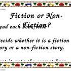 Fiction or Non-Fiction Sort Literacy Center Activity