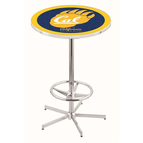 Chrome Cal Golden Bears Bar Table