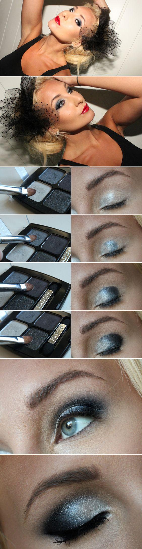Nice tutorial from swedish makeup blogger Helen.