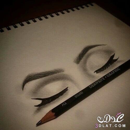 اكبر مجموعة بنات مرسومة بالقلم الرصاص 3dlat Net 06 17 6d5a Eye Drawing Pencil Art Drawings Art Drawings Sketches