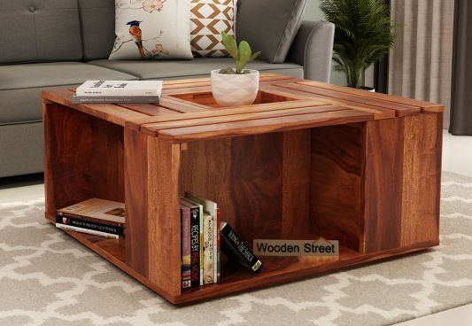 Pune Coffee Table Decor Living Room Wooden Street Decorating