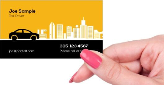 Taxi Driver Business Card Handing Out Modern Design Modern Business Cards Design Business Card Modern Taxi Driver