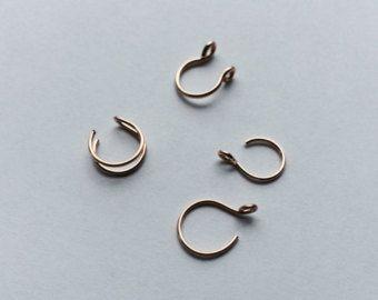 Gold oder Rose Gold versuchen mich reingelegt von Fake Piercings / Double Nasenring / Tragus Ring / Septum Ring / Fake Körperschmuck