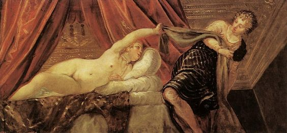 Jacopo Tintoretto. Joseph and Potiphar's wife. c.1555: