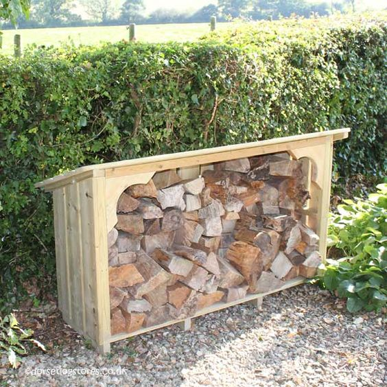 Melbury Log Store side detail
