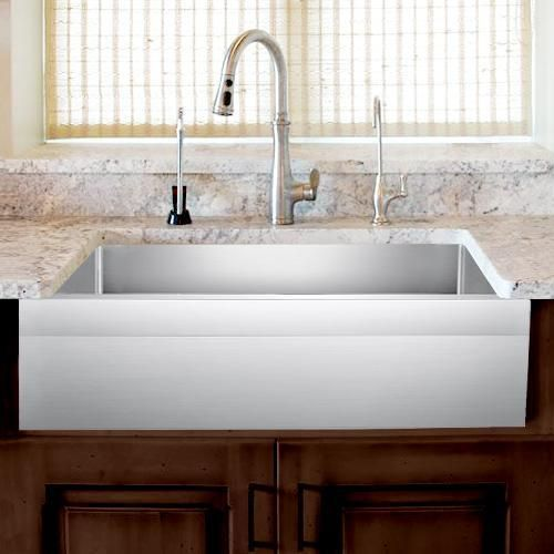27 Wadley Stainless Steel Single Bowl Farmhouse Sink Angled