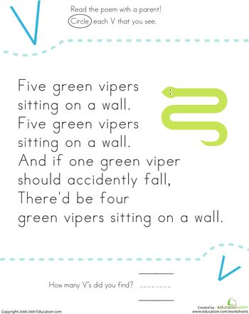 find the letter v five vipers green the o 39 jays and count. Black Bedroom Furniture Sets. Home Design Ideas