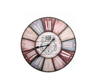 Reloj de pared de madera y metal multicolor | Relojes | Artículo | Tienda de decoracion online , muebles y objetos de diseño vintage, Bellos Signos