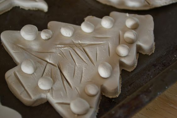 Clay ornaments. So fun to make with the kids!