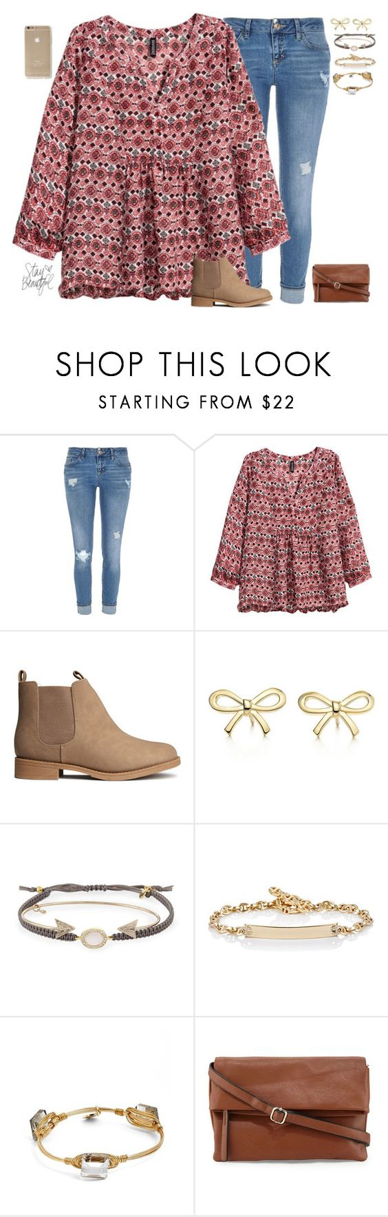 """""""•Be with someone who understands how rare your love is•"""" by mgpayne10 ❤ liked on Polyvore featuring River Island, H&M, Tiffany & Co., Tai, Hoorsenbuhs, Bourbon and Boweties and Neiman Marcus"""