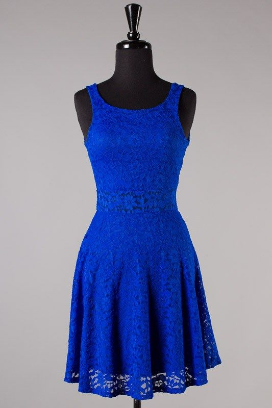 Blue dress juniors 1 piece