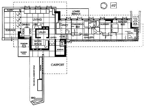 Seamour and gerte shavin residence chattanooga tennessee for Zimmerman house floor plan