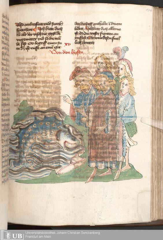355 [176r] - Ms. Carm. 1 (Ausst. 47) - Das Buch der Natur - Page - Mittelalterliche Handschriften - Digitale Sammlungen  Hagenau, [um 1440]